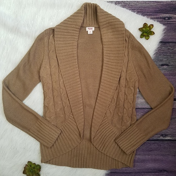 e2ccee8c4151bd Mossimo Supply Co. Sweaters | Mossimo Tan Cable Knit Cocoon Cardigan ...